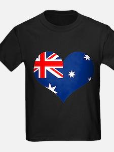 Australia Heart Flag T