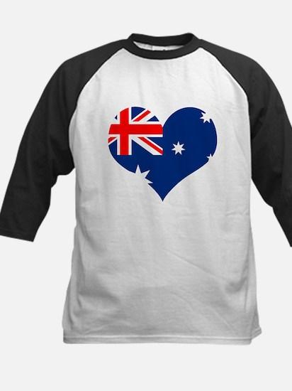 Australia Heart Flag Kids Baseball Jersey
