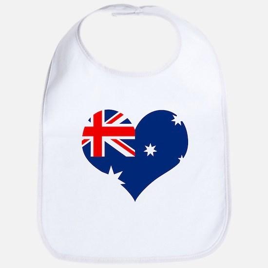Australia Heart Flag Bib