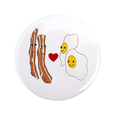 """Bacon Loves Eggs 3.5"""" Button"""