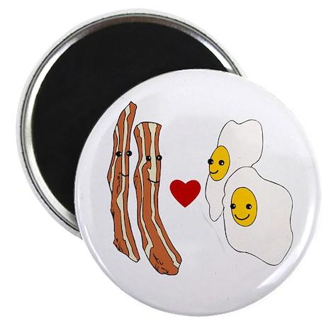 """Bacon Loves Eggs 2.25"""" Magnet (100 pack)"""