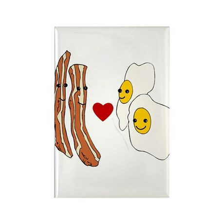 Bacon Loves Eggs Rectangle Magnet (10 pack)