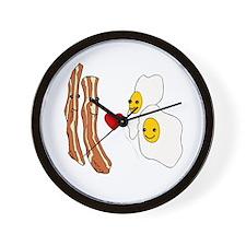 Bacon Loves Eggs Wall Clock