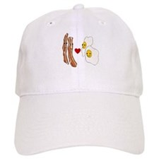 Bacon Loves Eggs Baseball Cap