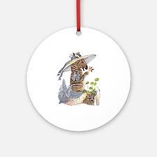 Playful Zebra Ornament (Round)
