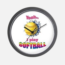 Yeah I play softball Wall Clock