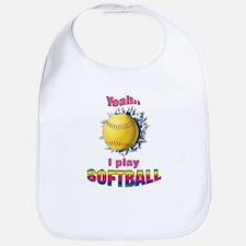 Yeah I play softball Bib