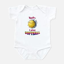 Yeah I play softball Infant Bodysuit