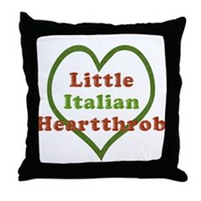 Little Italian Heartthrob Throw Pillow