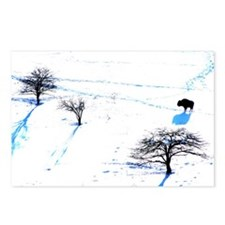 Winter Buffalo Postcards (Package of 8)