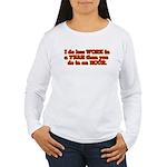 Less Work Women's Long Sleeve T-Shirt