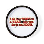 Less Work Wall Clock