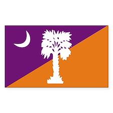Purple/Orange SC Rectangle Decal