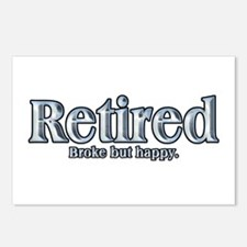 Retired: Broke But Happy Postcards (Package of 8)