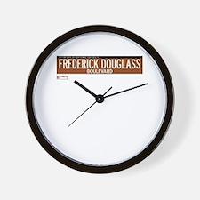 Frederick Douglass Boulevard in NY Wall Clock