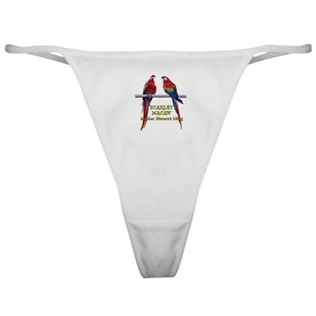 Macaw Bling Classic Thong
