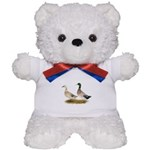 Ducks: Silver Welsh Harlequi Teddy Bear