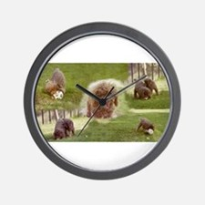 Poodle Town Wall Clock
