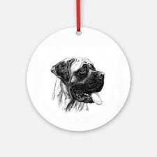 Mastiff Ornament (Round)