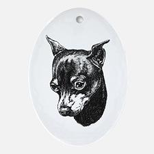 Min Pin Oval Ornament