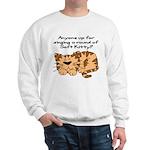 Singing a round of Soft Kitty Sweatshirt