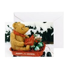 Santa Pooh Greeting Card