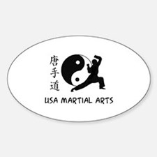 USA Martial Arts Oval Decal