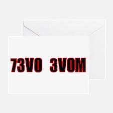 73V0 3V0M Greeting Card
