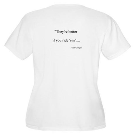 Frank's Quote Womn's Plus Size Scoop Neck T-Shirt