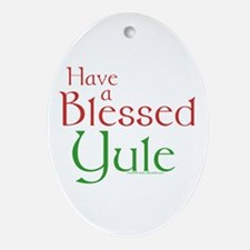 Blessed Yule Ornament (Oval)