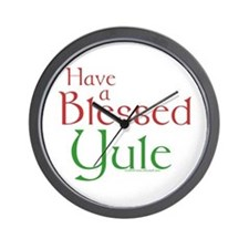Blessed Yule Wall Clock