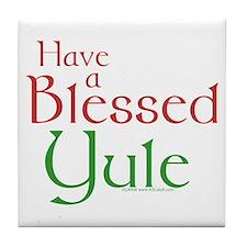 Blessed Yule Tile Coaster