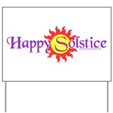 Happy Solstice Yard Sign