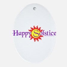 Happy Solstice Ornament (Oval)
