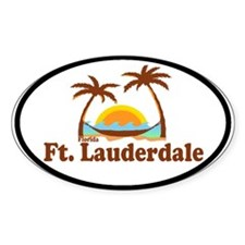 Fort Lauderdale FL Oval Decal