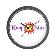 Happy Solstice Wall Clock
