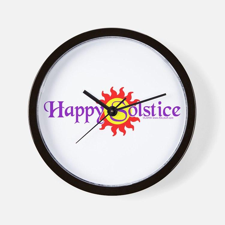 Happy Solstice Wall Clock