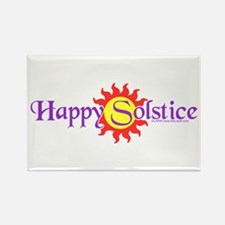 Happy Solstice Rectangle Magnet (100 pack)