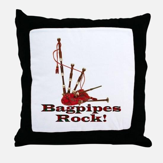 Bagpipez Throw Pillow