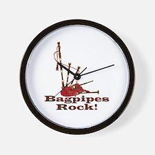 Bagpipez Wall Clock