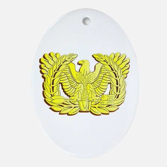 Funny W Oval Ornament