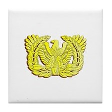 Cute Warrant officer Tile Coaster