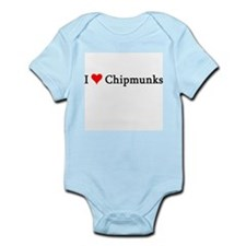 I Love Chipmunks Infant Creeper