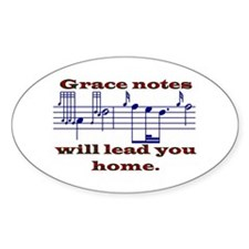 Grace Notes Oval Decal