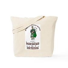 Plaid Pants Tote Bag
