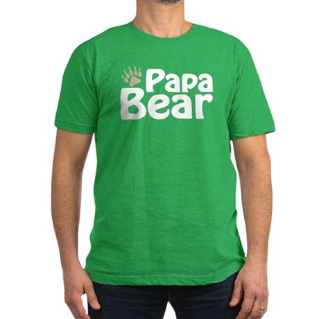 Papa Bear Claw Men's Fitted T-Shirt (dark)