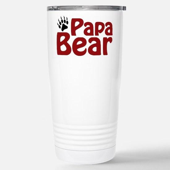 Papa Bear Claw Stainless Steel Travel Mug