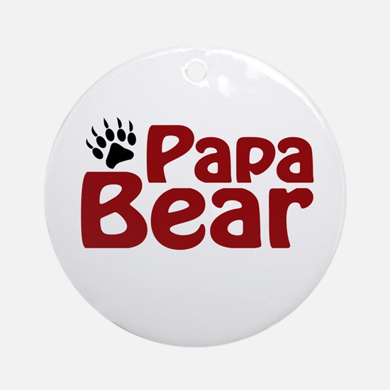 Papa Bear Claw Ornament (Round)
