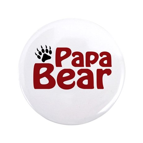 "Papa Bear Claw 3.5"" Button (100 pack)"