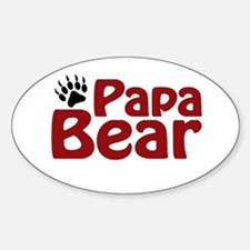 Papa Bear Claw Oval Decal